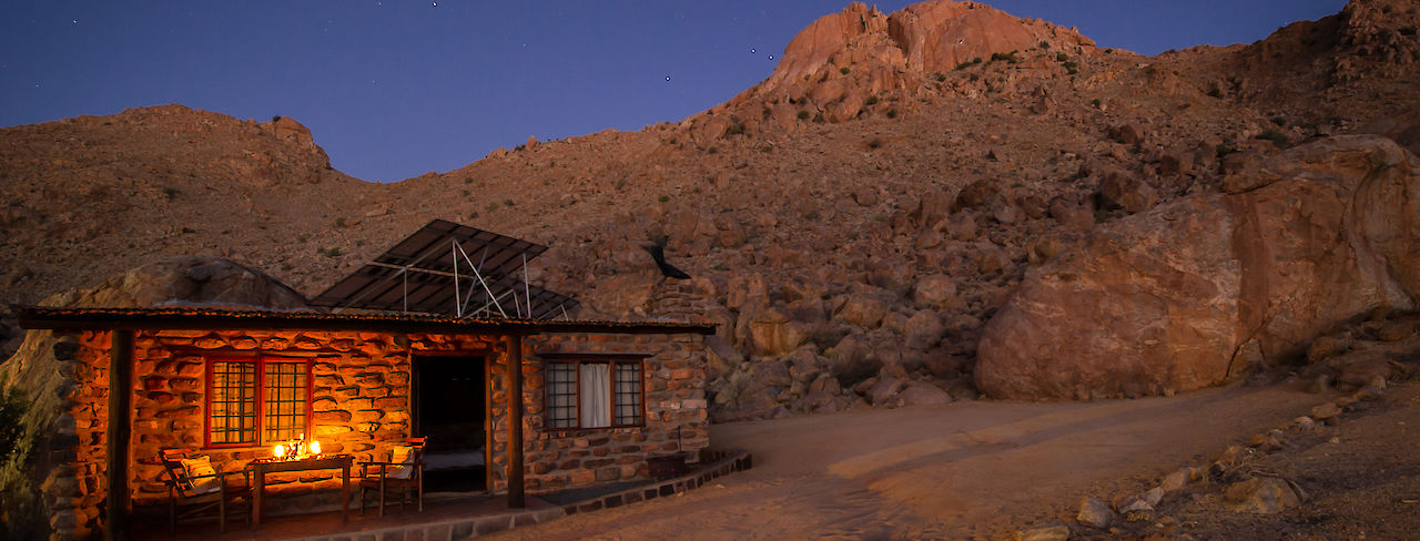 Eagles Nest der Canyon Lodge bei Nacht