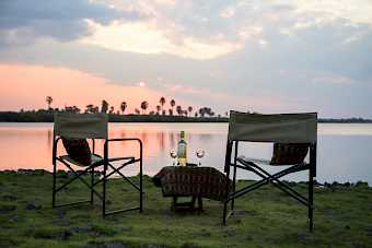 Sundowner am Rufiji River