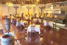 Restaurant der Chobe Bush Lodge