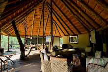 Lounge der Mankwe Bush Lodge