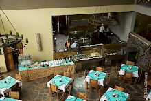 Restaurant der Weru Weru River Lodge