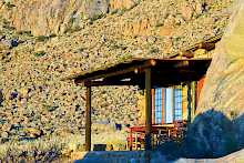 Terrasse des Eagles Nest der Canyon Lodge