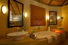 Badezimmer im Ngoma Safari Lodge