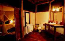Badezimmer in Apoka Safari Lodge