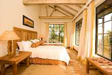 Doppelzimmer der Clouds Mountain Gorilla Lodge