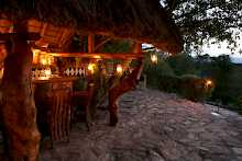 Bar der Semliki Safari Lodge